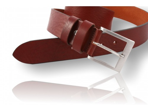 E049/40 Leather Belt true edged color brown availabl. 4 colors