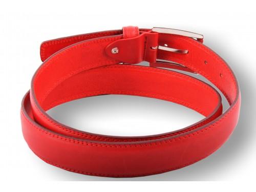 Cintura in cuoio bombata colore arancio