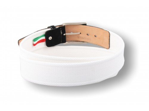 C093/40 Belt woven ribbon, suede leather trim, 10 colors
