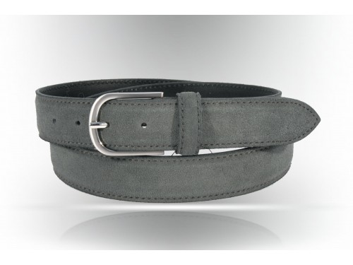 S119/35 Leather belt blu suede available different colors